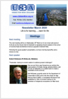 U3A Newsletter March 2020